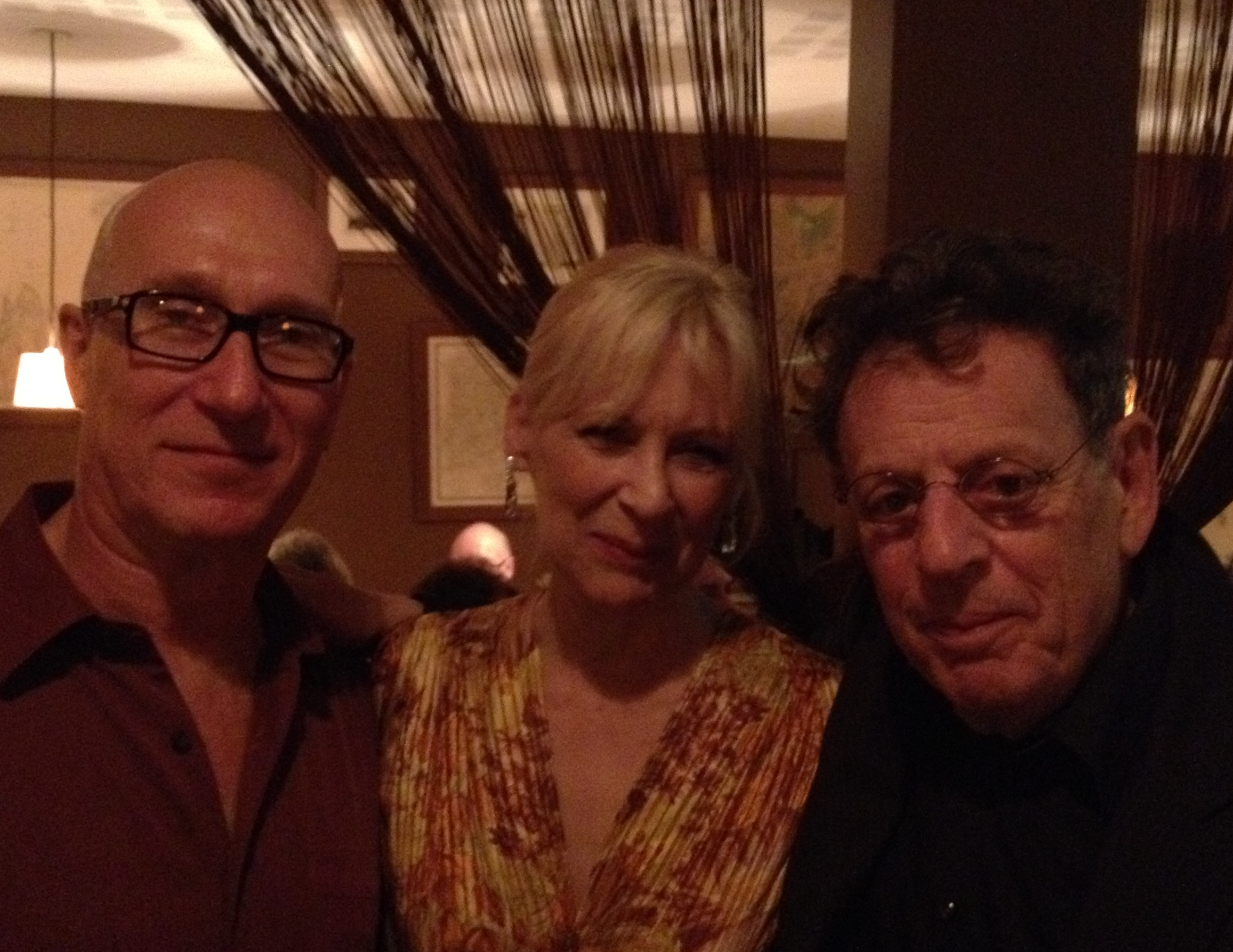 Philip Glass, Charlie Otte, Christine Sang at Einstein On The Beach Cast Party, France
