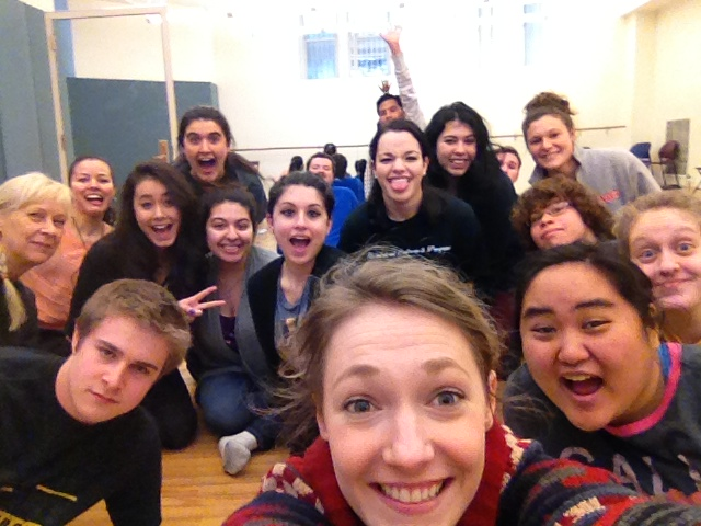 "These are the faces of the Acting Class at Fordham University Spring 2014. Working on a variety of choices found in powerful scenes from ""Lydia"" by Octavio Solis, and 410[GONE] by Frances Ya-Chu Cowhig."
